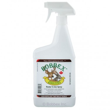 Bobbex Deer & Rabbit Repellent-.95 litre spray bottle