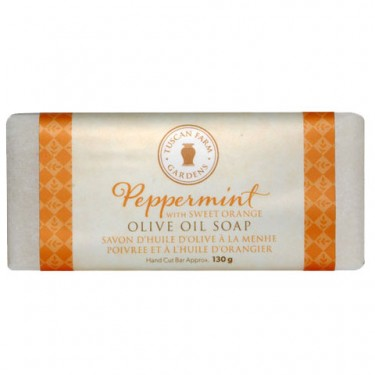 Peppermint & Sweet Orange Organic Olive Oil Soap
