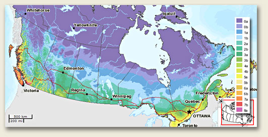 Canadian Hardiness Zone Map